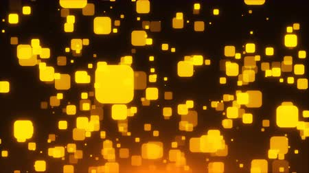 quadrate : Many gold glittering squares are in space, holiday 3d rendering background, golden explosion of confetti