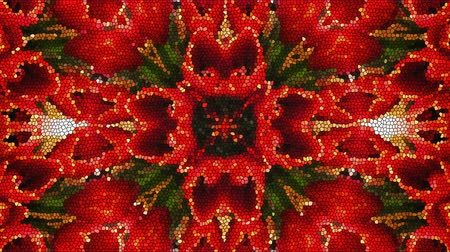 mosaico : Bright beautiful mosaic like flower, beautiful ornament, 3d rendering computer generated background