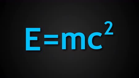 relativity : E=mc2 Albert Einsteins physical formula are on black background, mass-energy equivalence 3d backdrop