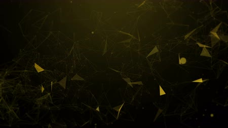 unir : Abstract Polygonal Space Background with Connecting Dots and Lines. 3d rendering Stock Footage