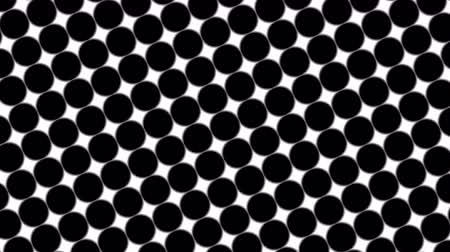 cserepezés : Big black polka dots - simple retro pattern for creative, 3d render, stylish black polka dot on white background Stock mozgókép