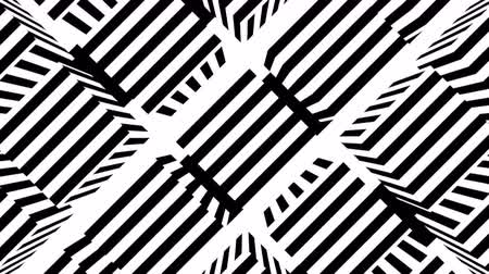 波打つ : Black and white stripes. Computer generated abstract background, 3D rendering backdrop