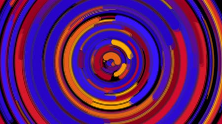 geometry compass : Abstract spiral bright rotating and twisting lines, computer generated background, 3d rendering backdrop Stock Footage