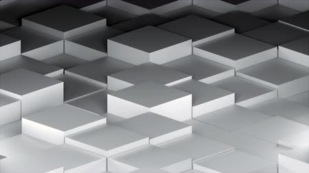 desvanecer : Many abstract isometric cubes, modern computer generated 3D rendering background