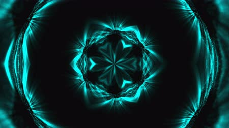 yaymak : Beautiful abstract kaleidoscope - fractal flower, 3d rendering backdrop, computer generating background Stok Video