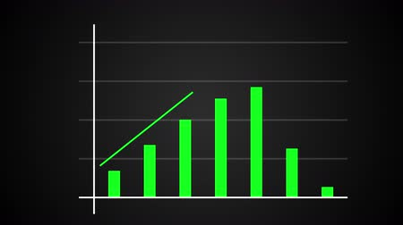 crescimento : Growing bar graph with rising arrow, financial forecast graph, 3d render computer generated background