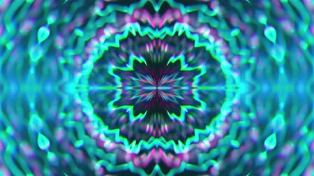 subject : Abstract symmetry kaleidoscope like Mandala ornament, 3d rendering backdrop, computer generating background Stock Footage