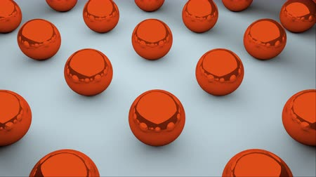 редактируемые : Many glossy balls with reflections are on surface, isometric background, modern computer generated 3D render backdrop