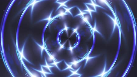 шесть : Abstract blue fractal lights, 3d rendering backdrop, computer generating background