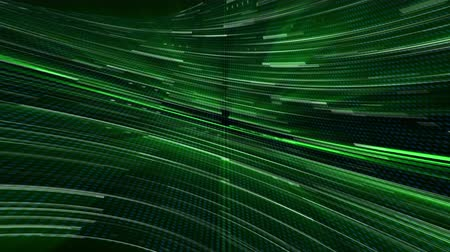 vertical stripes : Abstract glow digital in dark - abstraction of data communication, computer generated background, 3D rendering Stock Footage