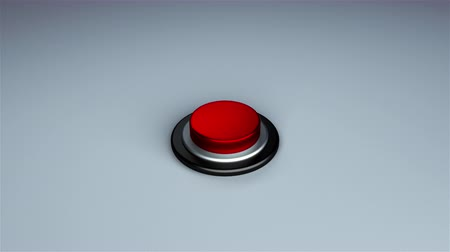 emergency stop : Round push button bordered by a metallic ring - object for design, 3d rendering background