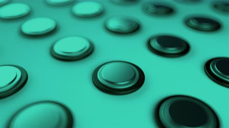 convex : Surface with numerous repeating metal buttons, isometric background, modern computer generated 3d rendering backdrop