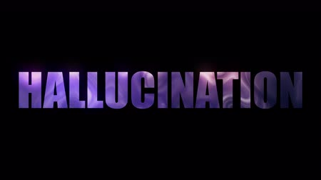 hallucination : Word Hallucination of letters with a effect of plasma, 3d rendering background, computer generated