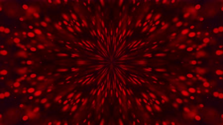 diffuse : Computer generated a kaleidoscope of red particles flying from the center on a dark background, 3d rendering