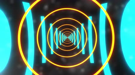 повторение : Computer generated background futuristic tunnel with neon light. 3d rendering