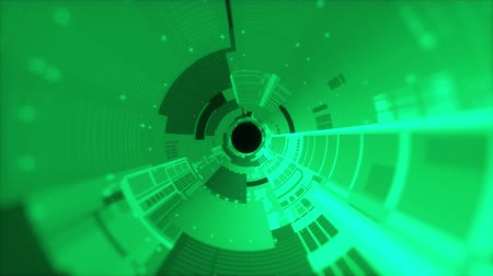 integrált : Fantastic abstract background of a cylindrical tunnel made of microchips. Computer generated 3d rendering