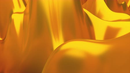 seethe : Computer generated modern animation of bubbling golden liquid with high waves, 3d rendering abstract background