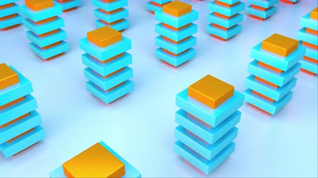 tiered : 3d rendering isometric color tiered pillars. The concept of the city. Computer generated abstract backdrop imitation of many buildings