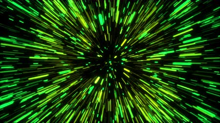 hyperspace : 3d rendering hyper jump into another galaxy. Speed of light, neon glowing rays in motion, movement through stars. Computer generated abstract modern cosmic background. Stock Footage