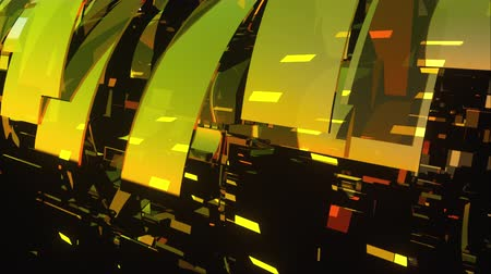 screen saver : Computer generated modern abstract background of large 3d glass rings. 3D rendering corporate and broadcast animation for TV commercials, broadcasts, show backgrounds Stock Footage