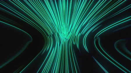 seethe : Abstract computer generated background, 3D rendering. Numerous vertical neon lines shimmer in a smooth bend. Stock Footage