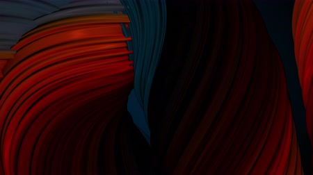 jelatin : Colored twisted shape. Computer generated abstract hypnotic background. 3D render swirling lines Stok Video