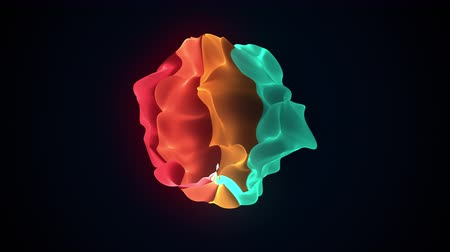 szakadt : Multicolor shapeless object with torn edges. Computer generated a modern abstract background, 3D rendering