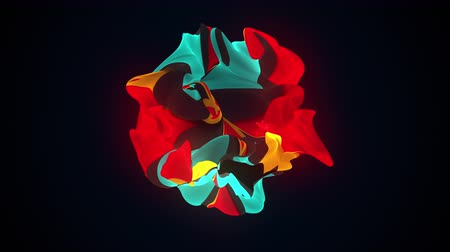 dişli : Multicolor shapeless object with torn edges. Computer generated a modern abstract background, 3D rendering