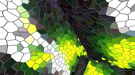 stained glass : Computer generated disco mosaic background. 3D rendering of an enclosed space with multicolored mosaic walls