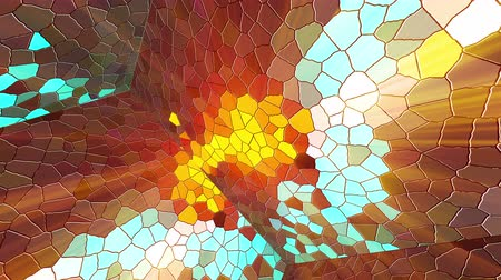 stopmotion : Computer generated disco mosaic background. 3D rendering of an enclosed space with multicolored mosaic walls