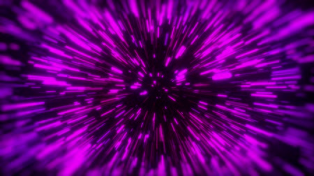 speed tunnel : 3d rendering movement through stars. Hyper jump into another galaxy. Neon glowing rays in motion. Computer generated abstract modern cosmic background