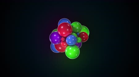 polido : Bunch of colorful chaotic spheres. Computer generated abstract form of large and small balls. 3d rendering modern background