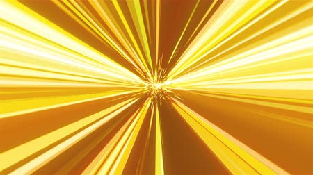 streaking : Computer generated abstract backdrop from many golden rays and particles, 3D rendering Stock Footage
