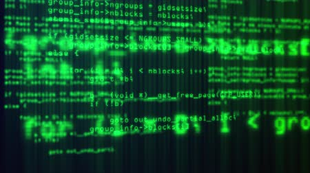 programming language : 3d rendering of web backdrop. Programming code running through the computer screen terminal, computer generated