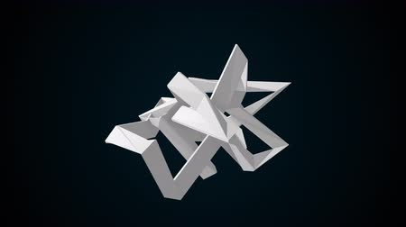もつれた : Fractal simple element, computer generated background. 3d rendering of abstract shape