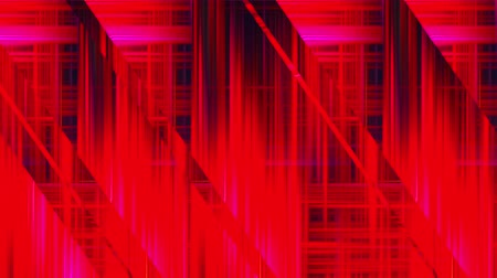разница : Computer generated inclined and horizontal glass stripes with many narrow neon light lines in different colors. Abstract mirror background. 3d rendering