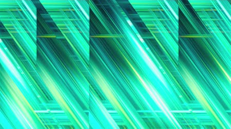 estreito : Computer generated inclined and horizontal glass stripes with many narrow neon light lines in different colors. Abstract mirror background. 3d rendering