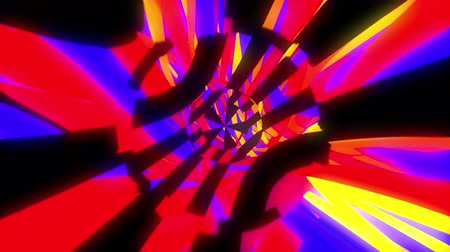 fraco : Dynamic bright glich video or effect of motion in the bright space, 3d rendering computer generated background
