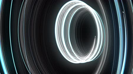 elipse : Abstract spiral rotating glow lines, computer generated background, 3D rendering background.