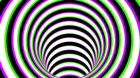 Black and white striped tunnel, psychedelic abstraction, 3d rendering computer generation