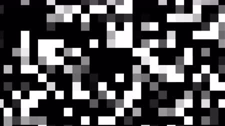 Computer generated abstract technology backdrop with mosaic of white and black square blocks. 3D rendering large pixels Dostupné videozáznamy