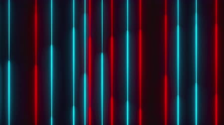 lâmpada elétrica : Many vertical neon lighting lines, abstract computer generated backdrop, 3D rendering