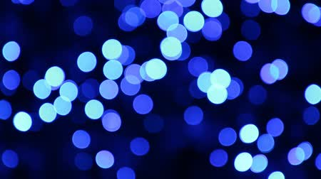 brilhando : Abstract blue circular bokeh background. Blue light blur bokeh for background. Vídeos