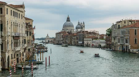Grand Canal, Venice, Italy, 4K Time lapse Stok Video