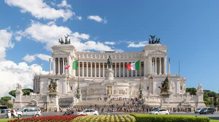 цыган : Rome city at Piazza Venezia timelapse, Rome, Italy 4K Time lapse