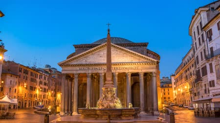 цыган : Rome Pantheon night to day sunrise timelapse, Rome, Italy 4K Time lapse