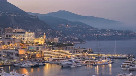 アトラクション : Monaco Ville city skyline day to night timelapse, Monte Carlo, Monaco 4K Time lapse