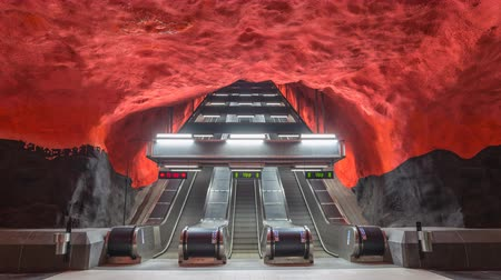 populární : Stockholm Sweden time lapse 4K, timelapse at Solna Centrum Metro Station