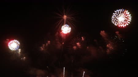 Fireworks display celebration, Colorful New Year Firework 4K