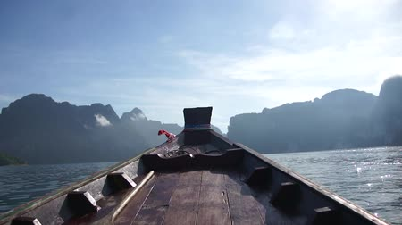 noruega : Barco en Lago Archivo de Video